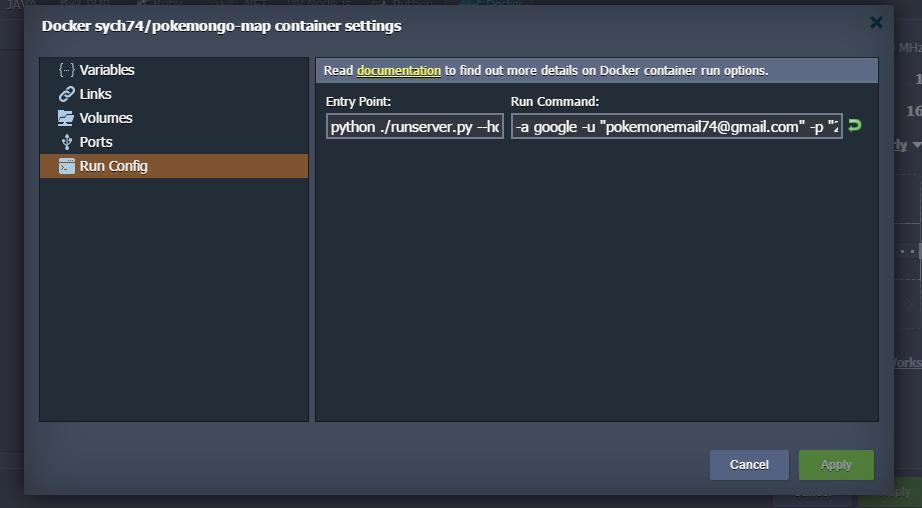 change environment toplogy run command