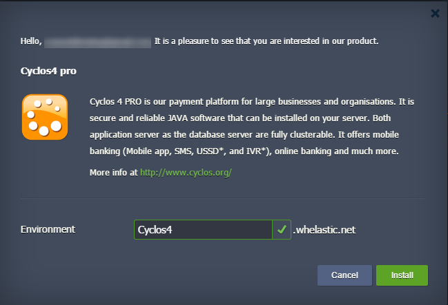 create cyclos 4 environment