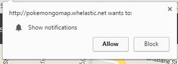 pokemongo map notifications