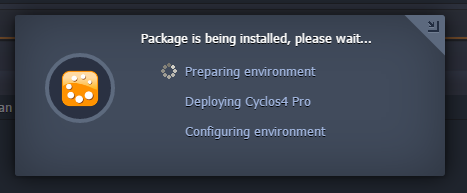 preparing cyclos4 environment.