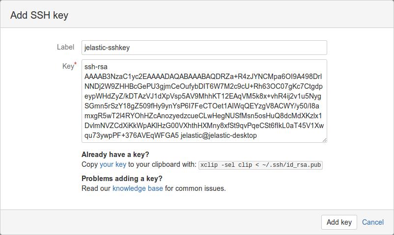 add key bitbucket