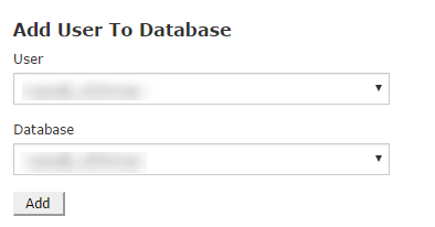 assign user to database