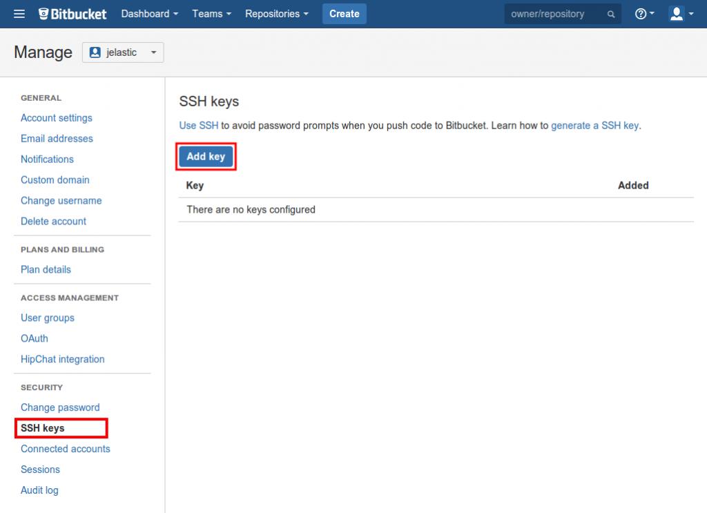 add ssh key bitbucket