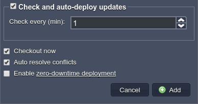 auto-deploy updates
