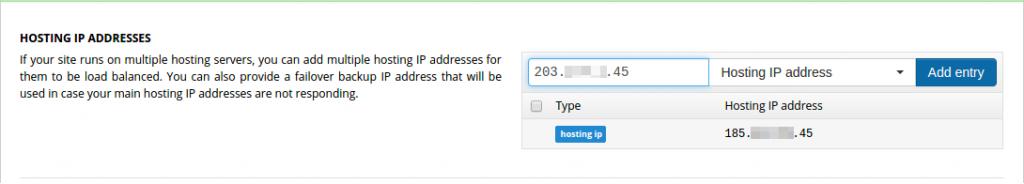 Add new server IP