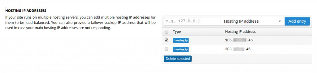 Delete the old server IP