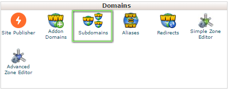 create a sub domain