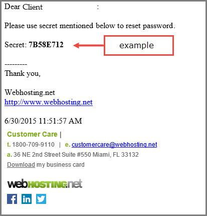 secret key email