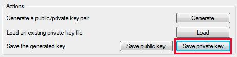 save private key