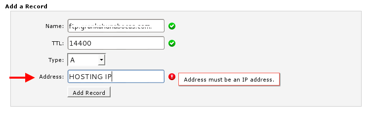 add hosting IP