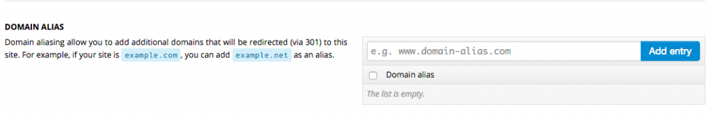 domain alias